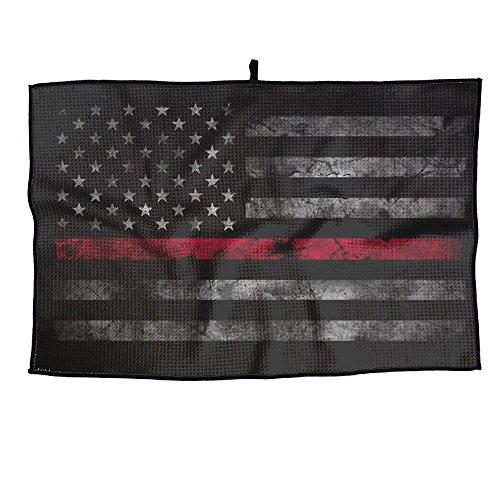 Pin Red Thin Line American Flag Golf-Handtuch Sporthandtuch Spieler-Handtuch 69 x 38 cm
