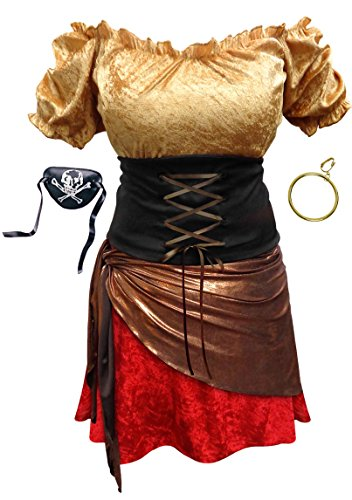 Pirate Wench Plus Size Halloween Costume Basic Kit 7xT