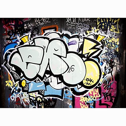 Fondo de fotografía de Graffiti de Arte de Pared de ladrillo, Estudio de fotografía de Fondo de fotografía de Retrato A1 7x5ft / 2,1x1,5 m