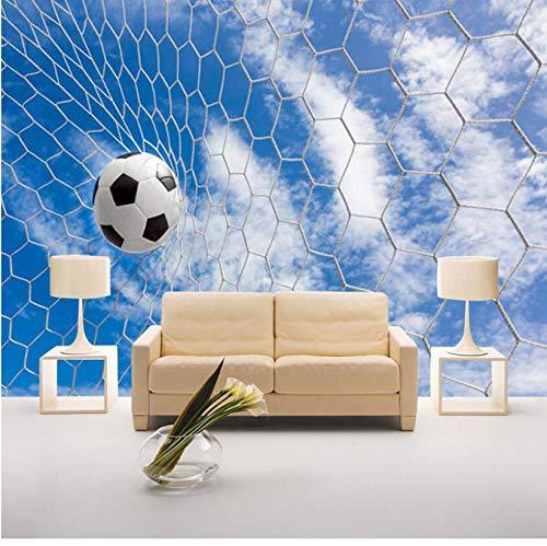 Kundenspezifisches modernes einfaches Sport-Fußball-Tornetz des Wandbild-3D für das Hobby und das Geschenk der Kinder