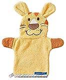 Morgenstern Frottee Babywaschlappen Baby Handpuppe mit Tier Motiv Löwe in Gelb