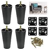 AFASOES 4 Pcs Patas de Plastico para Sofas Patas para Muebles Patas Altas para Sofa Patas para Mesas Patas de Repuesto...