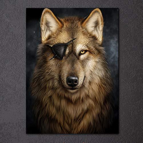 HD gedrukt canvas kunst brown hond schilderij jachthond muurschilderingen voor woonkamer wooncultuur 75x100 cm niet ingelijst