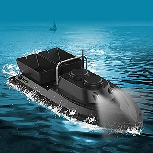 FCPLLTR RC aas boot, vissen aas boot, afstandsbediening vissersboot, gps positionering afstandsbediening 500m aas boot met led nachtlampje met 2 batterijcompartimenten, GPS, 5200mAh