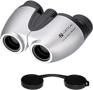 ナシカ光学「日本製」コンパクト7倍双眼鏡7×21-MC Bak-4プリズム 眼鏡対応とレンズキャップの2点セット