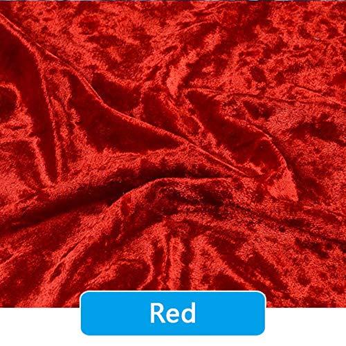 100 x 150 cm portefeuilles fluwelen jurk goud stretch softijs kussen DIY fluwelen doek stoffen bank tenten,rood,300cmX150cm