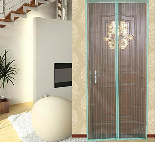 2020 nueva familia de verano práctica ventana de mosquitera magnética ventana de mosquitera cortina de ventana malla de mosquitera magnética malla de rayas de insectos A1 W 90 x H 210 cm