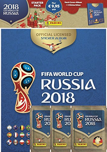 Panini 709951/FIFA World Cup Russia 2018//à Collectionner Starter Set de Hard Cover Album et 3/Booster