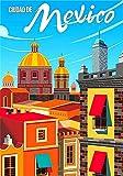 Vintage-Blech-Poster, Mexiko, Stadt, tropisch,