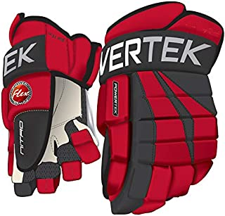 PowerTek V5.0 Tek Ice Hockey Gloves Red