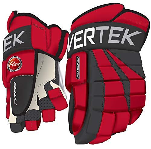 PowerTek V5.0 Tek Ice Hockey Gloves Red (11)