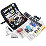 Meideal 65 Pieces Guitar Repairing Maintenance Tool Kit, Guitar Setup Kit Cleaning Care Accessories for Acoustic Electric Guitar Bass Ukulele