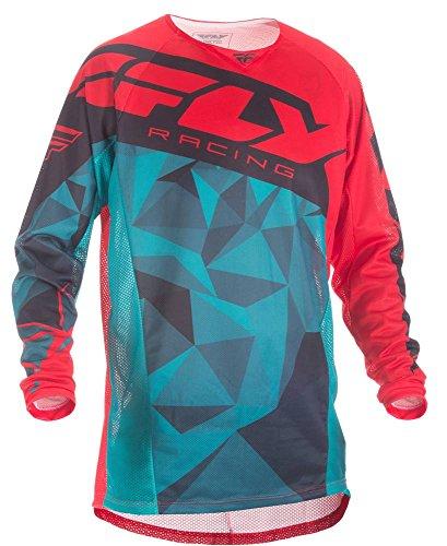 Fly Racing Mountainbike & Motocross Mesh Hemd Teal-rot-schwarz Fahrerhemd