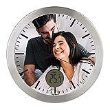 Gran Reloj de Pared Carcasa de Aluminio Cepillado Personalizado con Imagen o Logo (Esfera ...