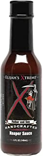 Elijah's Xtreme Carolina Reaper Hot Pepper Sauce with Sweet Black Cherries, Cranberries and Kentucky Bourbon (5 oz)