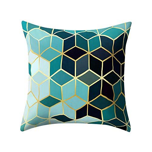 FeiliandaJJ Kissenbezug Platz Muster Kissenhülle Kopfkissenbezug Home Dekoration Pillowcase Super Weich Sofakissen für Wohnzimmer Sofa Bed,45x45cm (B)