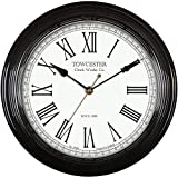 Towcester Clock Works Co. Acctim 26703 Redbourn Reloj de Pared, Color Negro