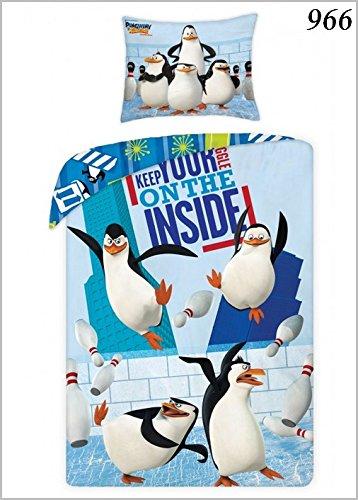 Halantex Juego De Fama LOS PINGUINOS De Madagascar Funda DE EDREDONE 140x200 100% Coton