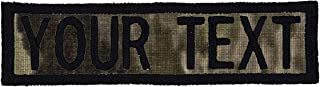Custom Morale Name Tapes with Border! Over 35 Fabrics to choose! Made in USA!! SHIPS UNDER 24 HOURS!