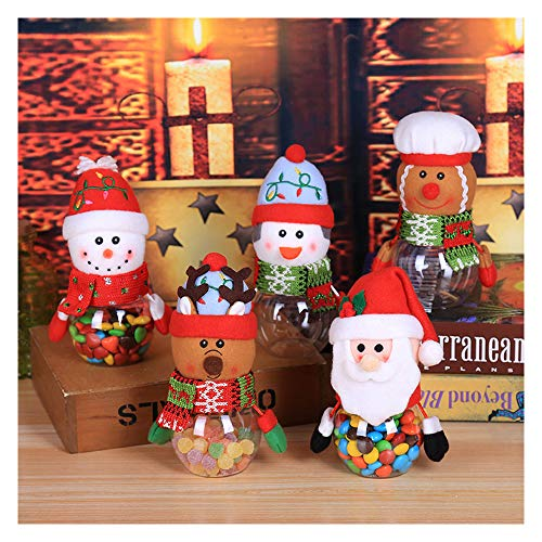 99AMZ Caja Dulces de Navidad - Forma Papá Noel Muñeco de Nievo Reno Caja de Almacenamiento de Escritorio Caja de Galletas para Decoraciones Navideñas Cesta de Almacenamiento para Caramelos Gal