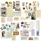 60Hojas Papeles Scrapbooking Vintage Tarjetas Etiquetas Flores Plantas Manualidades Decoración Bullet Journal Álbum Fotos Agenda Tarjetas de Felicitación Regalos
