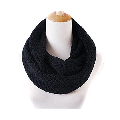 d4005d7fc88 Women s Soft Thick Knitted Scarf Solid Knit Thicken Hollow Out Neckerchief  Knit Circle Loop Infinity Scarf