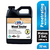 Rain Guard Water Sealers SP-8002 Wood Sealer Concentrate Covers up to 400 Sq. Ft. 1 Quart Makes 2 gallons – Clear Waterproof Sealer