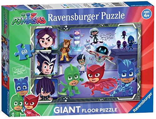Ravensburger 5552 PJ Masks – 60-teiliges Riesen-Boden-Puzzle für Kinder ab 4 Jahren, Mehrfarbig