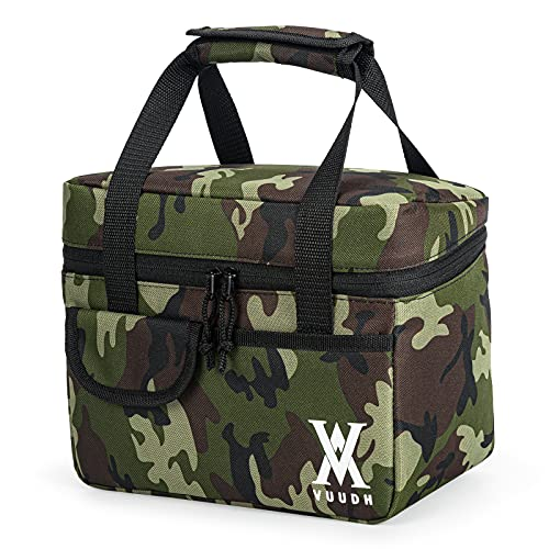 Reusable Insulated Cooler Lunch Bag - Boy Lunch Box, Office Work Picnic School Lunch Box Organizer for Food, Snacks, Fruit by Vuudh (Camouflage)