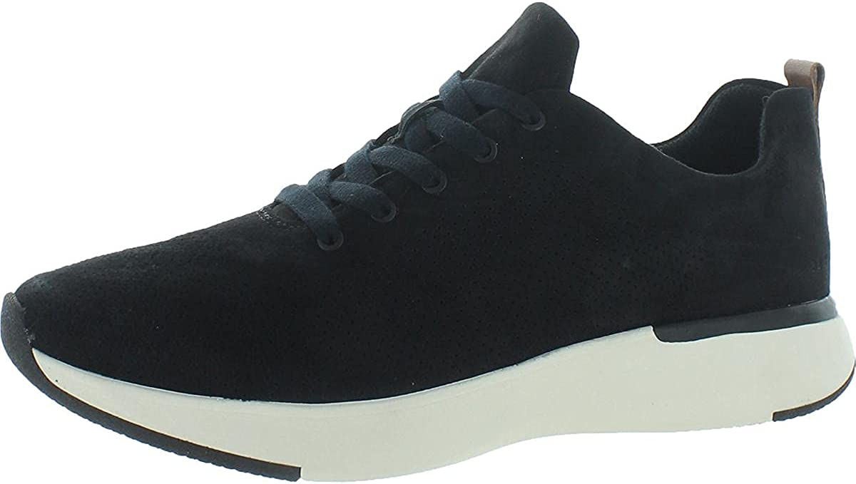Dr. Scholl's Womens Yes Please Suede Fashion Sneakers Black 8.5 Medium (B,M)