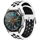 AOTVIRIS Compatible con Correa de Reloj Huawei Watch GT 2 46mm/Huawei Watch GT 2e/Huawei Watch GT Sport/Active 22mm Banda Silicona Pulsera para Galaxy Watch 46mm/Gear S3 Frontier