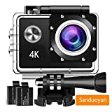 Action Camera Sport Camera 1080P Full HD Waterproof Underwater Camera Davola WiFi Control with 140° Wide-angle Lens 12MP 2 Rechargeable Batteries and Mounting Accessories Kit