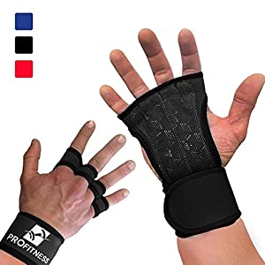 ProFitness Cross Training Gloves Non-Slip Palm Silicone Weight Lifting Glove to Avoid Calluses   Perfect for WODs & Weightlifting   with Wrist Wrap Support, Ideal for Both Men & Women