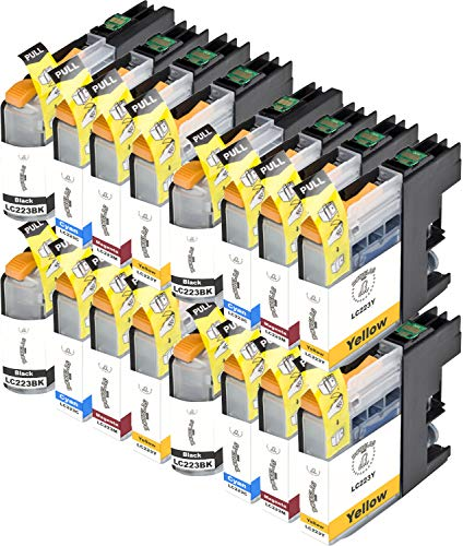 16 Dougalas Inks Kompatible Tintenpatronen für Brother LC223 Brother DCP J4120DW Brother DCP J562DW Brother MFC J4625DW Brother MFC J5320DW Brother MFC J480DW Brother MFC J4420DW