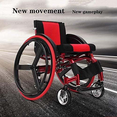 FKYUYU Sport- Und Freizeitrollstühle Leichtgewicht Power Assist Active Basketball Sport Manual Rollstuhl Mit Sportrollstuhl