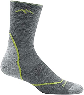 Darn Tough Light Hiker Micro Crew Light Cushion Socks - Men's Gray Large