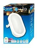 Garza Lighting Outdoor - Plafón LED Oval de Exterior, Potencia 6W, Protección contra Agua y Polvo IP54, Luz Neutra 4000K, color Blanco