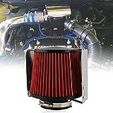 RUIEN Ruien 汎用 76mm エアクリーナー フィルター ステンレス 遮熱板 カバー メッシュ 車 吸気効率UP コンパクト 自動車用