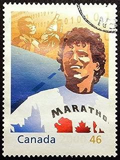 Terry Fox marathon of hope, Canada -Handmade Framed Postage Stamp Art 22535AM