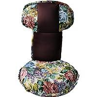 LAPTAIN 座椅子 フロアチェア ソファ リクライニング 幅46cm ブラウン 花柄 14段階調整可能 背もたれ 低反発ウレタン コンパクト 腰痛対策 美姿勢サポート 在宅勤務 可愛い