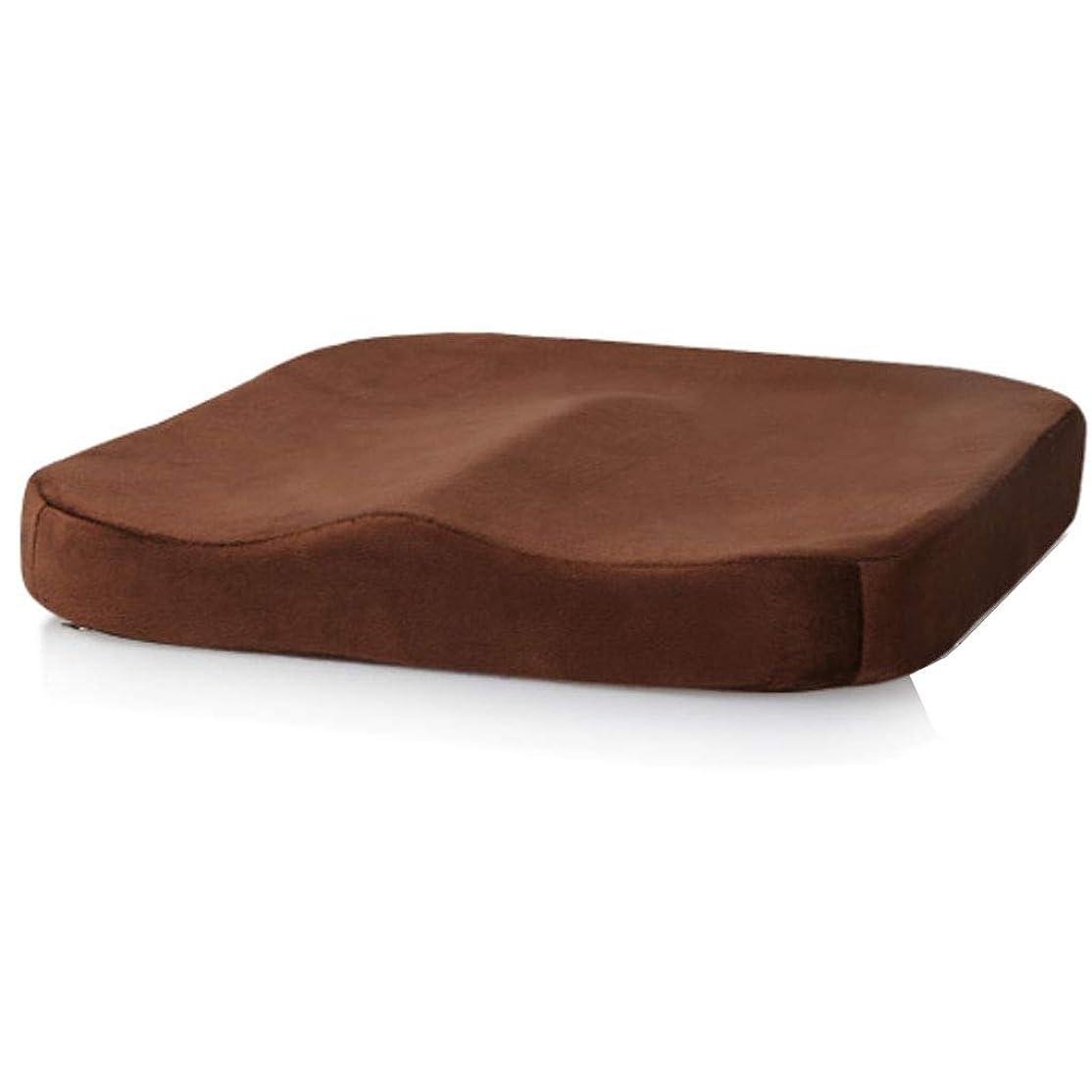 甲虫簡単にバドミントン記憶 フォーム クッション/厚くするスーパーソフトぬいぐるみチェアパッド座面クッションバットパッドのために適したホーム事務所寮レストラン-ブラウン-40バツ40バツ5.5CM(16バツ16バツ2インチ)