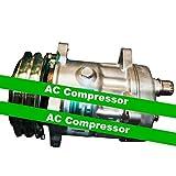 GOWE Compresor de CA para Sanden SD7H15 Modelo S8264 Compresor de CA con embrague. R134a. 24V. 7 pistones. Compresor de aire acondicionado de 150CC