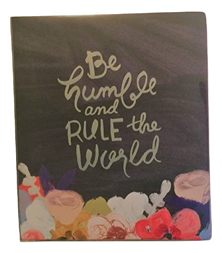 Carolina Pad Studio C The Silver Lining Collection 1 Inch O-Ring Vinyl Binder with Pockets (Be Humble and Rule The World, 10 Inches x 11.5 Inches)