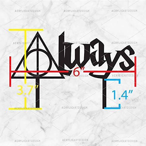 Acrylic Art Design Always Cake Topper for Weddings Harry Potter Inspired Always
