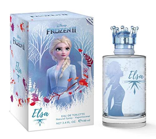 Elsa, Frozen, Disney, Princess, Fragrance, for Kids, Eau de Toilette, EDT, 3.4oz, 100ml, Perfume, Spray, Made in Spain, by Air Val International,Blue,Elsa, Frozen by Air Val International