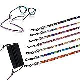 Androxeda Fascetta per occhiali da vista Fermo per occhiali, confezione da 7, occhiali da sole, cinghia per supporto per occhiali da lettura, catena per occhiali, cordino