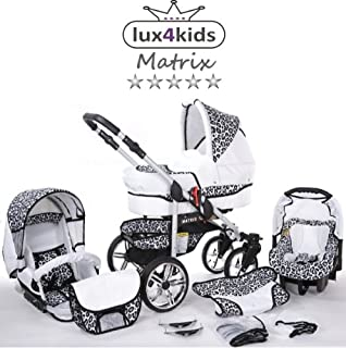 Lux4Kids Margaret nostalgia Pram /& Pushchair raincover, mosquito net, car seat adapter 04 Brown poppies