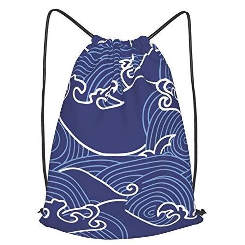 Olverz Bolsas de cordón con patrón de rayas curvas, resistentes al agua,...