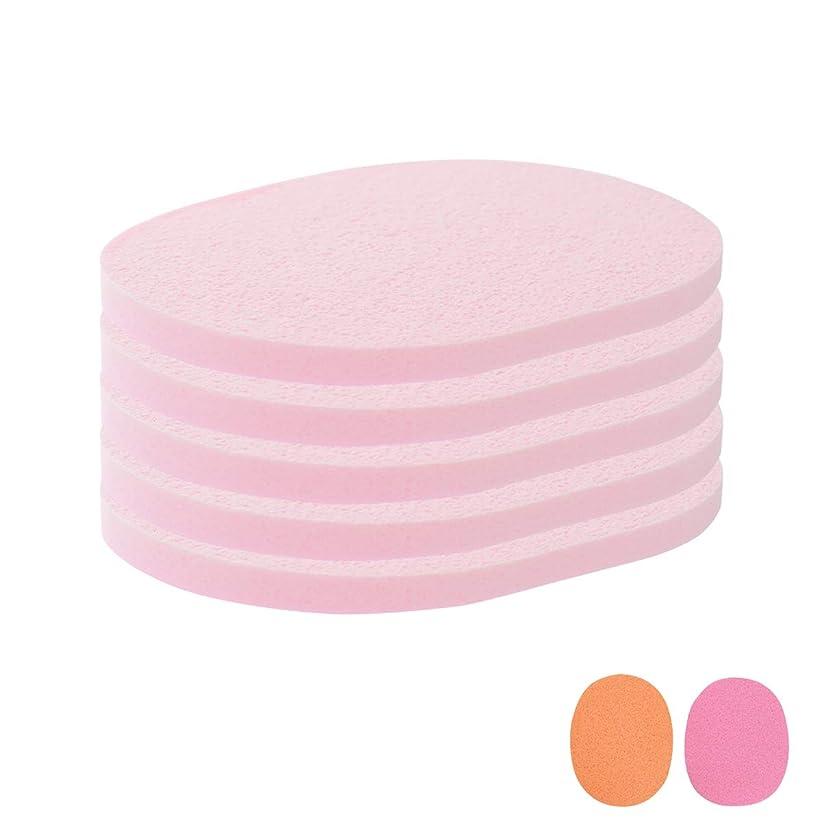 共感する同時アクセスできないフェイシャルスポンジ 全4種 7mm厚 (きめ粗い) 5枚入 ピンク [ フェイススポンジ マッサージスポンジ フェイシャル フェイス 顔用 洗顔 エステ スポンジ パフ クレンジング パック マスク 拭き取り ]