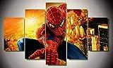 IKDBMUE Cuadro en Lienzo Película Spider-Man Avengers 100 X 55 - Impresión de 5 Piezas Tejido Impresión Artística Imagen Gráfica Decoracion de Pared Paisaje